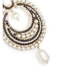 Givenchy | Multicolor River Pearl Crystal Clip Earrings | Lyst
