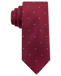 Kenneth Cole Reaction | Red Party Dot Slim Tie for Men | Lyst