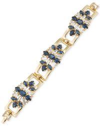 Carolee - Metallic Gold-tone Crystal Cluster Bracelet - Lyst