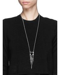 Ela Stone - Metallic Saskia Spike Charm Necklace - Lyst