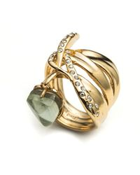 Alexis Bittar | Metallic Kinetic Gold Charmed Ribbon Ring You Might Also Like | Lyst