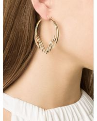 Venyx | Metallic 'electra' Diamond Hoop Earrings | Lyst