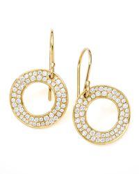 Ippolita - Yellow Stardust Open Circle Drop Earrings - Lyst