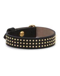 Alexander McQueen | Black Leather Skull Bracelet | Lyst
