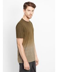 VINCE | Green Ombré Herringbone Short Sleeve Crew Neck Tee for Men | Lyst