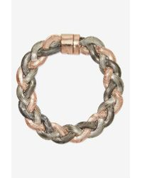 Nasty Gal | Gray Brenna Braided Choker | Lyst