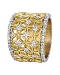 Jack Kelége | Yellow 'gatana' Wide Diamond Band Ring | Lyst