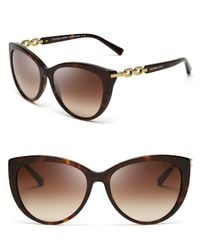 Michael Kors - Brown Gstaad Chainlink Cat Eye Sunglasses - Lyst