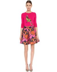 Zac Posen - Red Parrot Sweater - Lyst