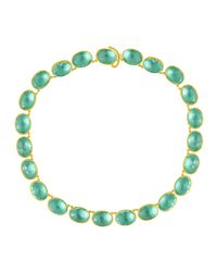 Larkspur & Hawk - Green Lily Riviere Gold-washed Topaz Necklace - Lyst