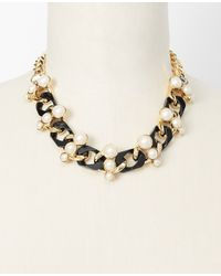 Ann Taylor - Metallic Arctic Halo &Amp; Chain Necklace - Lyst
