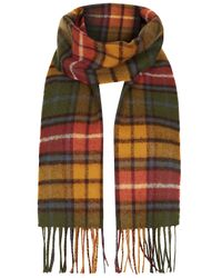 TOPSHOP | Green Buchanan Antique Locharron Check Scarf | Lyst