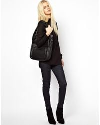 Just Female - Blue High Waist Skinny Jeans - Lyst