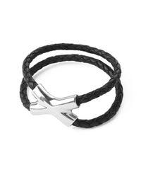 Saxons Of Oxford - Black Crossover Bracelet For Men for Men - Lyst