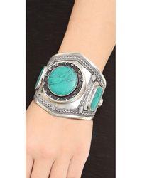 Vanessa Mooney - Estelle Malachite Cuff Bracelet Silverblue - Lyst