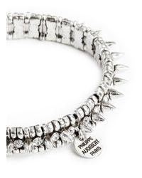 Philippe Audibert | Metallic 'amelia' Crystal Spike Elastic Bracelet | Lyst