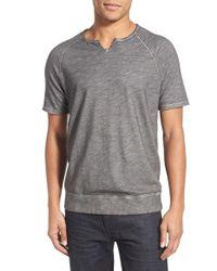 John Varvatos - Gray Short Sleeve Raglan T-shirt for Men - Lyst