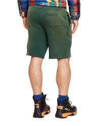 Polo Ralph Lauren | Green Fleece Drawstring Shorts for Men | Lyst