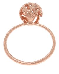 Alex Monroe - Pink Medium Rose Gold-plated Peacock Feather Ring - Lyst