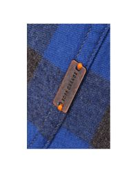 BOSS Orange - Blue 'esecrete' | Slim Fit, Cotton Plaid Button Down Shirt for Men - Lyst