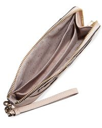 Tory Burch - Natural All-t Pebbled Leather Sectional Wristlet - Lyst