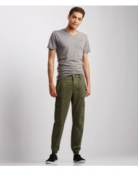 Aéropostale | Green Twill Cargo Jogger Pants | Lyst