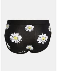 ASOS - Multicolor Briefs 3 Pack With Daisy Print Save 20% - Lyst