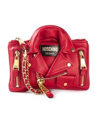 Moschino | Red Biker Clutch | Lyst