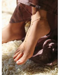 Free People - Metallic Gigi Anklet - Lyst