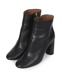 TOPSHOP | Black Magnum Heeled Boots | Lyst