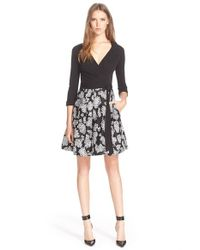 Diane von Furstenberg | Black 'jewel' Print Wrap Dress | Lyst