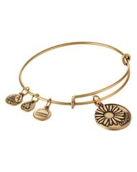 ALEX AND ANI | Metallic Daughter Charm Bangle | Lyst