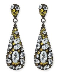 M.c.l  Matthew Campbell Laurenza - Metallic Yellow Sapphire & White Topaz Teardrop Earrings - Lyst