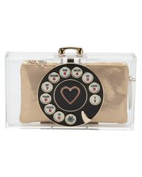 Charlotte Olympia - White Dial Pandora Clutch - Lyst