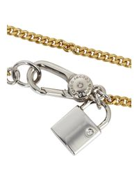 Marc By Marc Jacobs | Metallic Locked Up Gold Tone Bracelet | Lyst