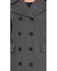 Theory | Gray Bolton Kenshon Coat - Black | Lyst