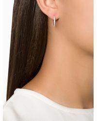 Ileana Makri - Gray 'bull' Diamond Hoop Earrings - Lyst