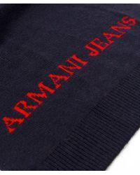 Armani Jeans | Blue Hat & Scarf Box Set for Men | Lyst