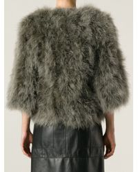 Giorgio Brato - Green Cropped Feathered Jacket - Lyst