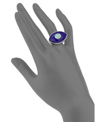 Marlo Laz | Blue Icon Opal, Lapis & Sterling Silver Third Eye Ring | Lyst