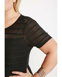 Forever 21 | Black Shadow Stripe Dress | Lyst