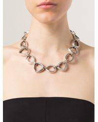 Vaubel - Metallic Linked Ring Necklace - Lyst