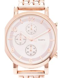 Forever 21 - Pink Chronograph Analog Watch You've Been Added To The Waitlist - Lyst