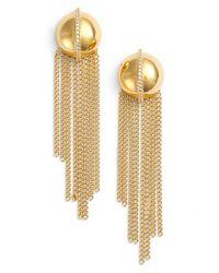 Rachel Zoe - Metallic 'remy' Fringe Drop Earrings - Lyst