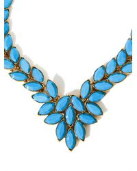 Oscar de la Renta   Blue Navette Cabochon Necklace   Lyst
