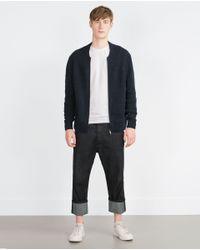 Zara | Blue Knit Cardigan for Men | Lyst