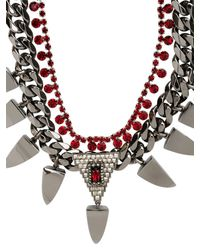 Mawi - Red Deco Prism Necklace - Lyst