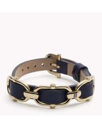 Tommy Hilfiger - Blue Leather Bracelet - Lyst