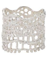 Aurelie Bidermann   Metallic Vintage Lace Ring   Lyst