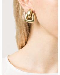 Vaubel - Metallic Open Round Wire Clip Earrings - Lyst